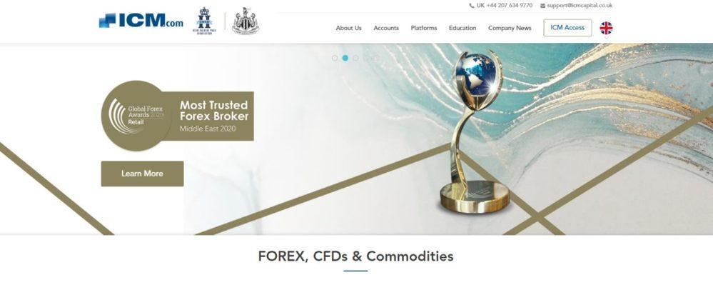 сайт брокера icm capital