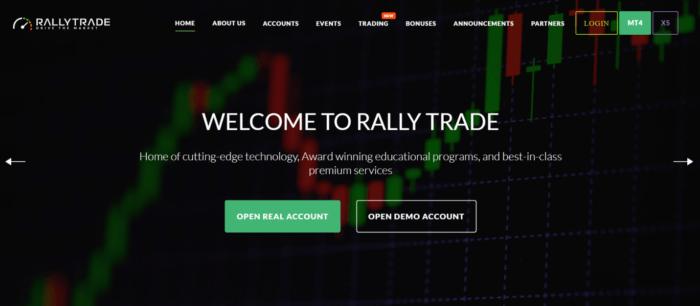 обзор сайта rallytrade