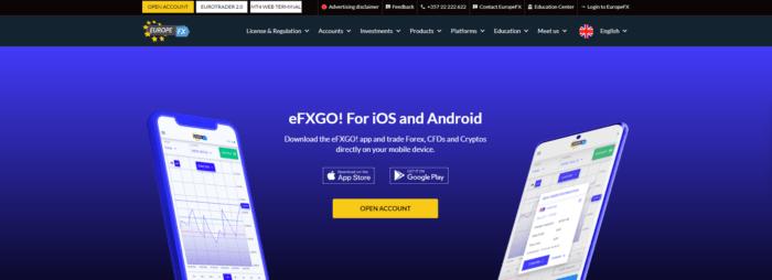 сайт компании europefx